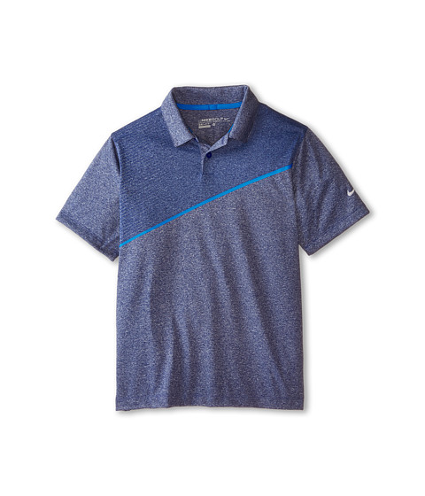 Nike Kids - Momentum 26 Polo (Little Kids/Big Kids) (Deep Royal Blue/Heather/Photo Blue/Wolf Grey) Boy's Short Sleeve Knit