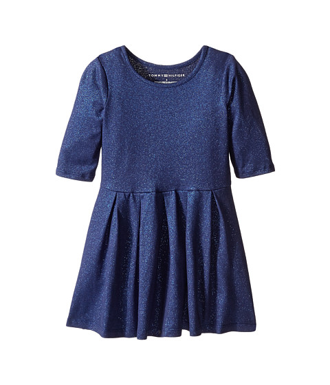 Tommy Hilfiger Kids - Sparkle Pique Dress (Little Kids) (Flag Blue) Girl