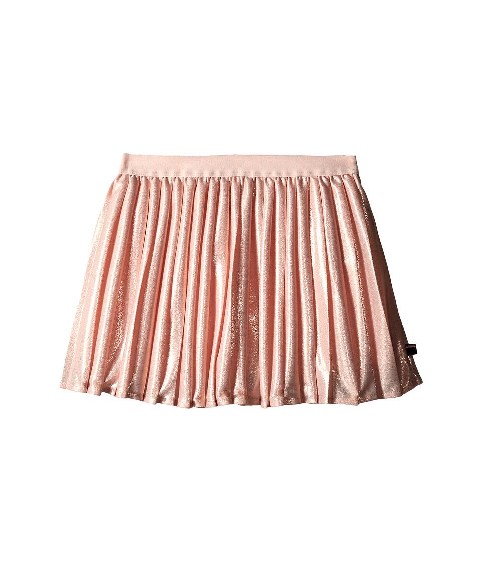 Tommy Hilfiger Kids - Pleated Metallic Skirt (Little Kids) (Rose Gold) Girl