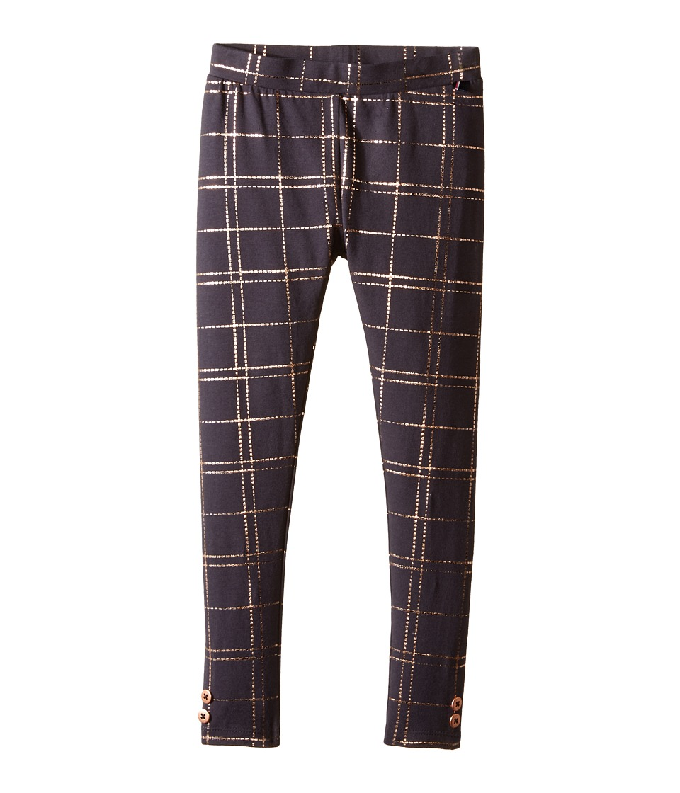 Tommy Hilfiger Kids - Foil Plaid Print Leggings (Little Kids) (Nine Iron) Girl's Casual Pants