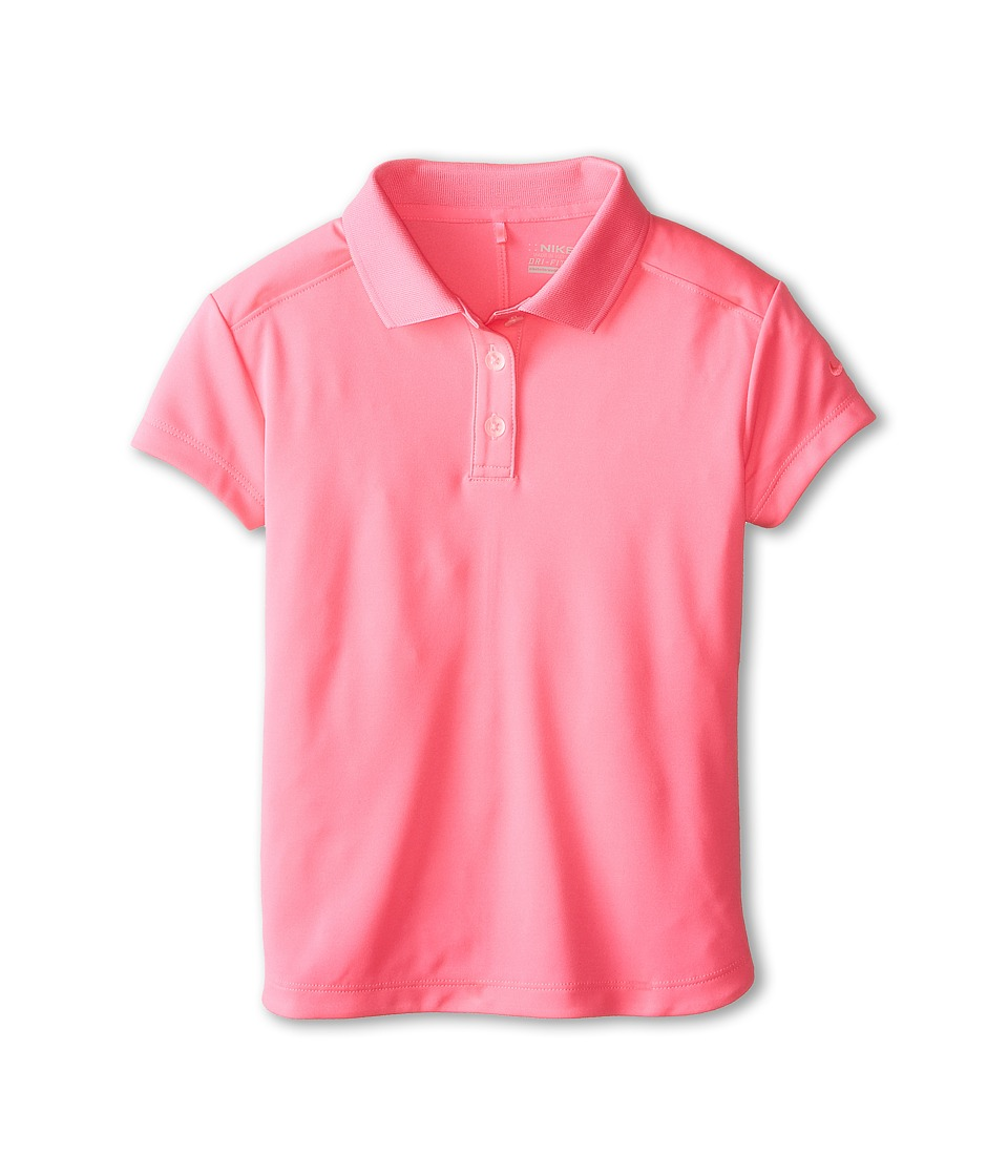 Nike Kids - Victory Polo (Big Kids) (Pink Pow/Pink Pow) Girl's Short Sleeve Pullover