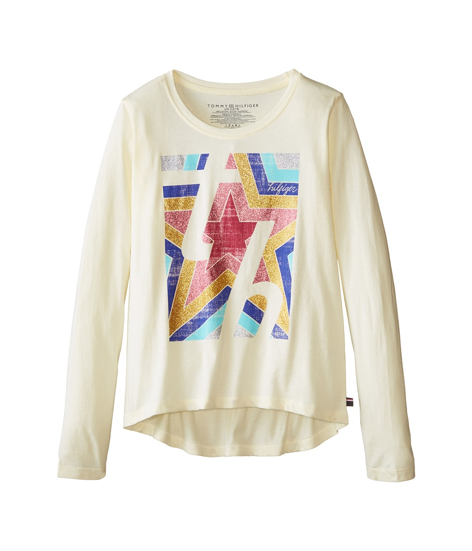Tommy Hilfiger Kids - In The Stars Long Sleeve Tee (Big Kids) (Frosty Cream) Girl