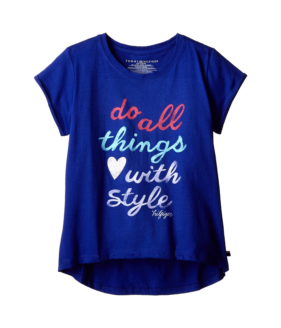 Tommy Hilfiger Kids - Do All Things with Style Tee (Big Kids) (Lazul Blue) Girl's T Shirt
