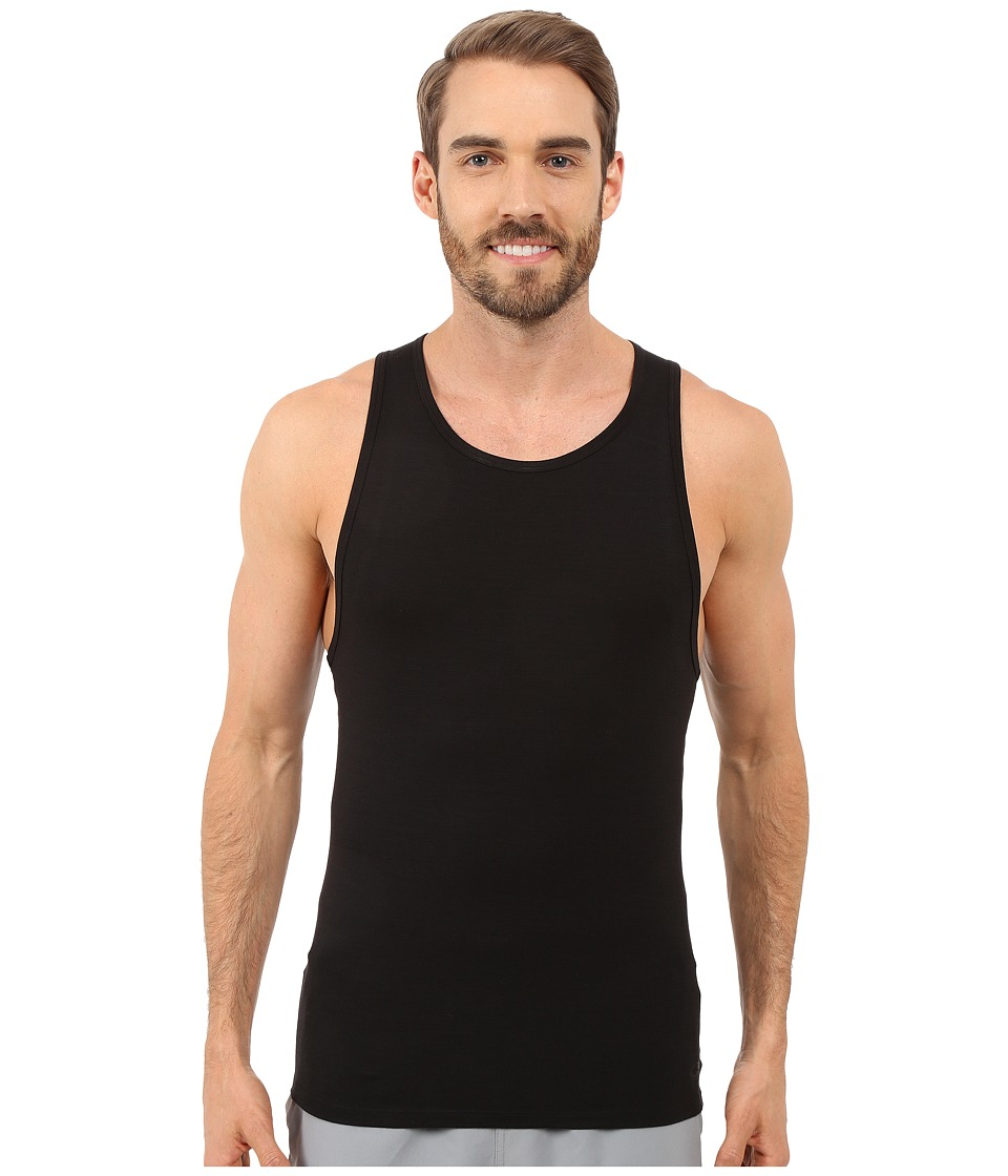 Icebreaker - Anatomica Tank (Black/Monsoon) Men's Sleeveless