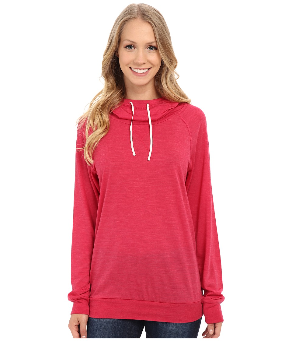 Icebreaker - Sphere Long Sleeve Hood (Cherub Heather/Snow) Women's Long Sleeve Pullover