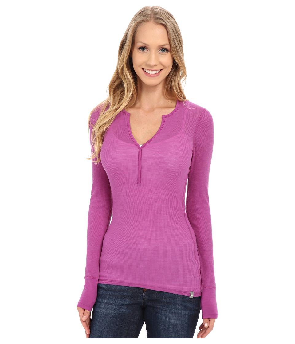 Icebreaker - Butter Rib Long Sleeve (Sweetpea/Sweetpea) Women's Long Sleeve Pullover