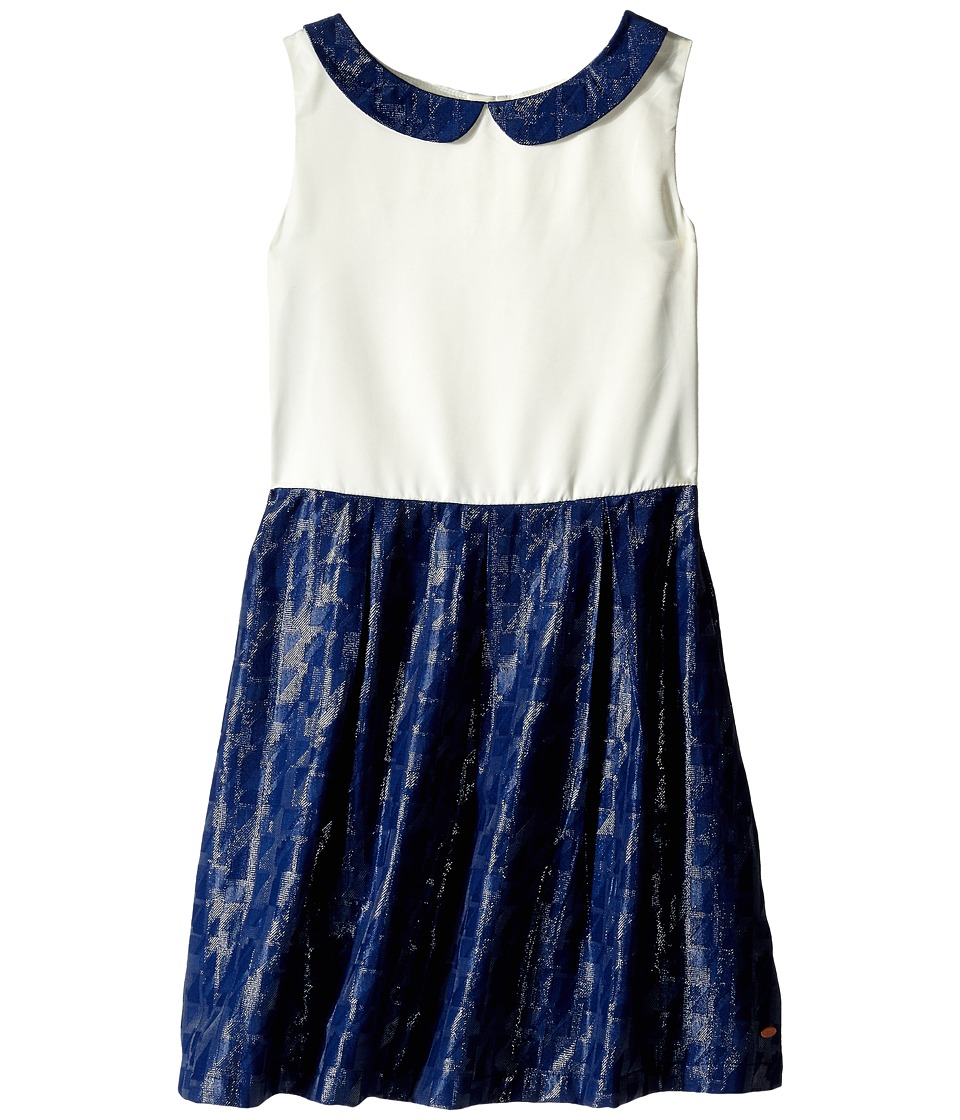 Tommy Hilfiger Kids - Lamet Peter Pan Collar Dress (Big Kids) (Flag Blue) Girl's Dress