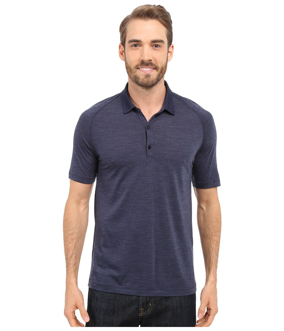 Icebreaker - Sphere S/S Polo (Admiral Heather/Admiral) Men's Short Sleeve Pullover
