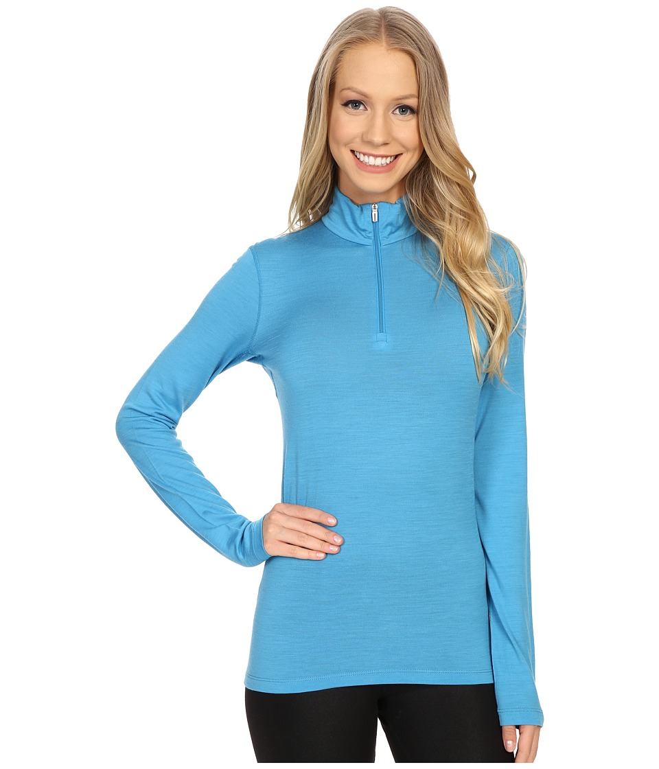 Icebreaker - Oasis Long Sleeve Half Zip (Cyan/Cyan) Women's Clothing