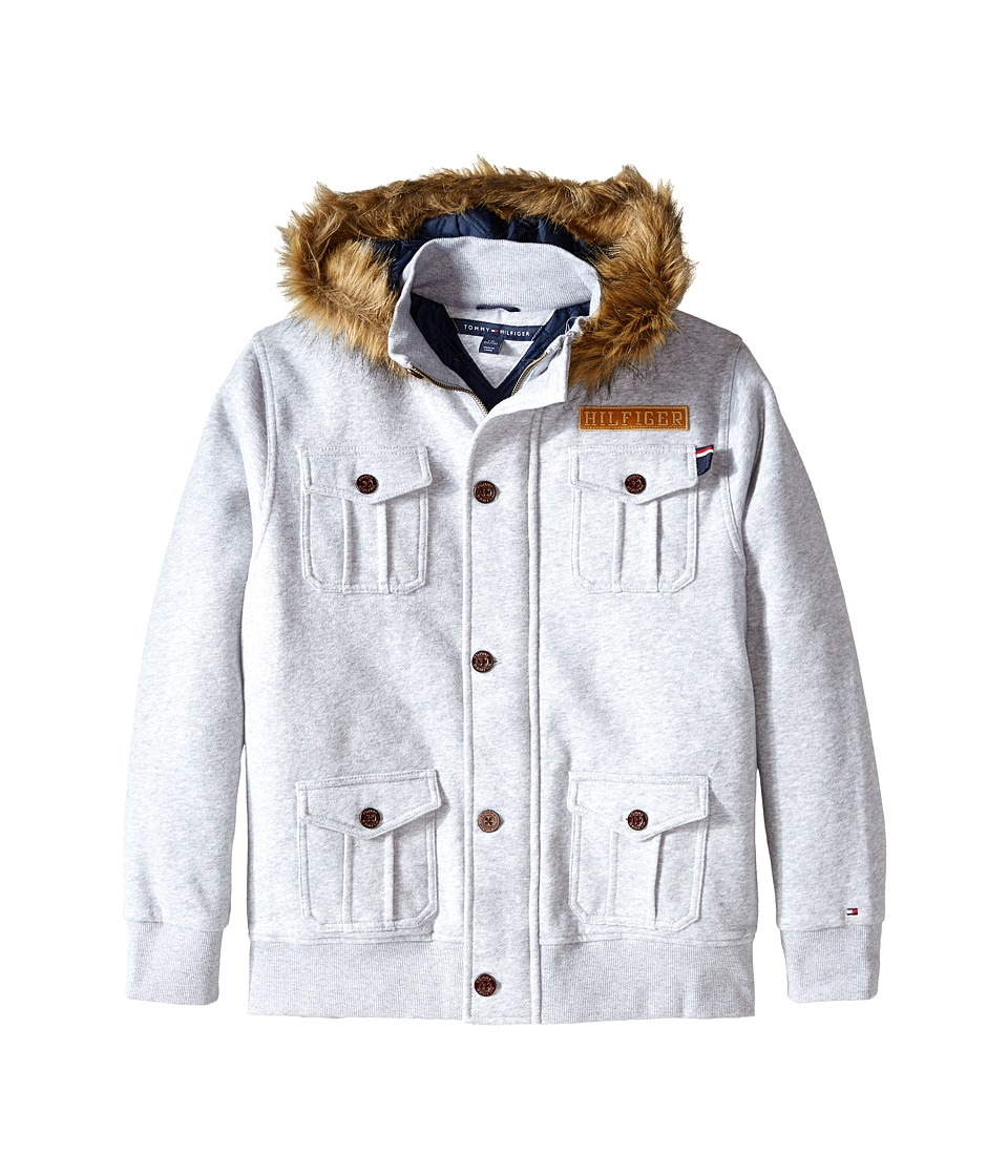 Tommy Hilfiger Kids - Fleece Jacket with Fur (Big Kids) (Tommy Hilfiger Grey Heather) Boy