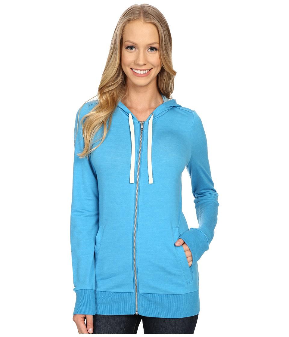 Icebreaker - Allure L/S Zip Hoodie (Cyan/Natural) Women's Sweatshirt