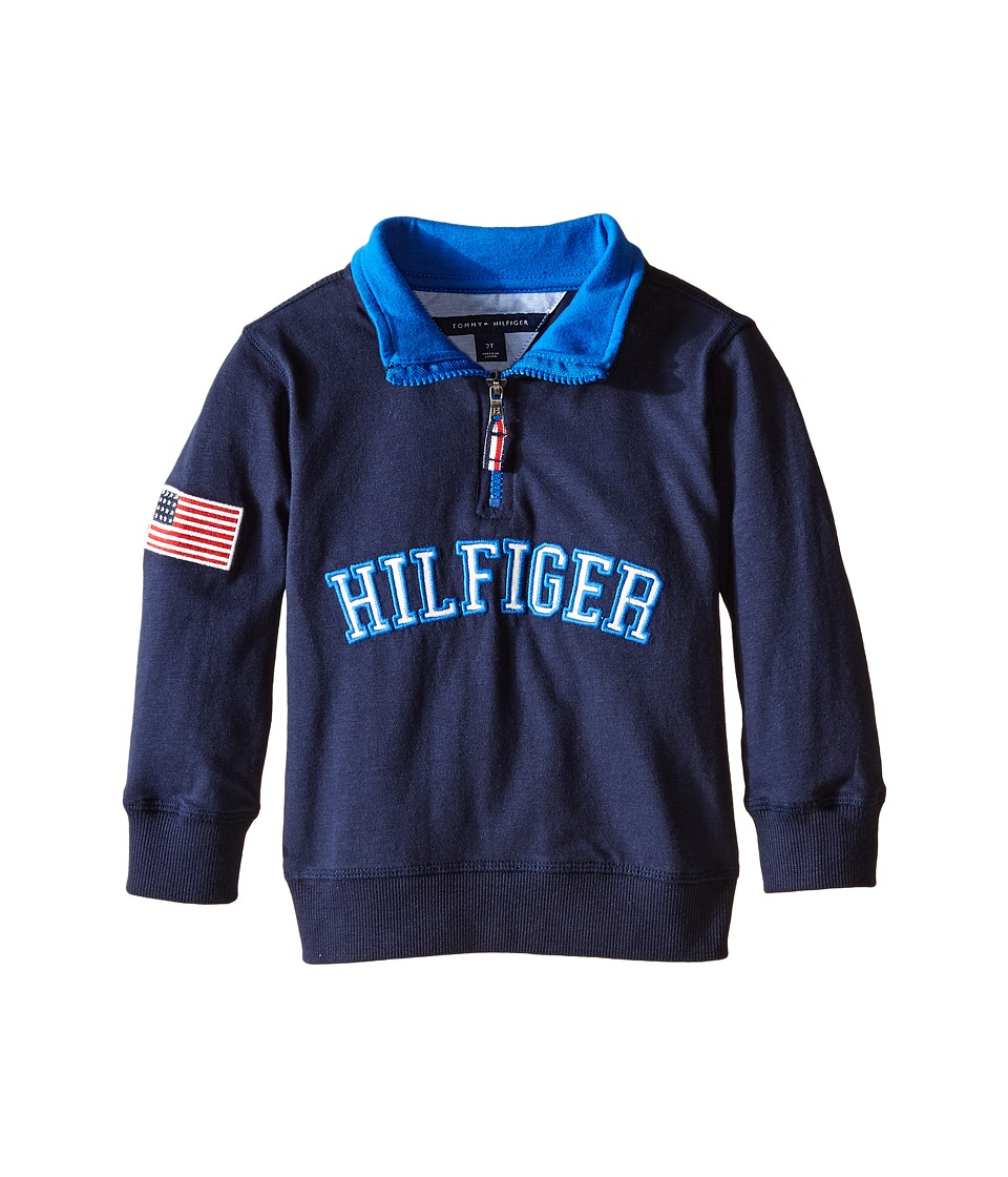 Tommy Hilfiger Kids - Half Zip Pullover Sweater (Toddler) (Swim Navy) Boy