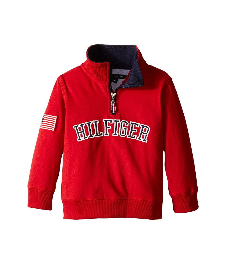 Tommy Hilfiger Kids - 1/2 Zip Pullover Sweater (Toddler) (Bulls Eye) Boy's Sweatshirt