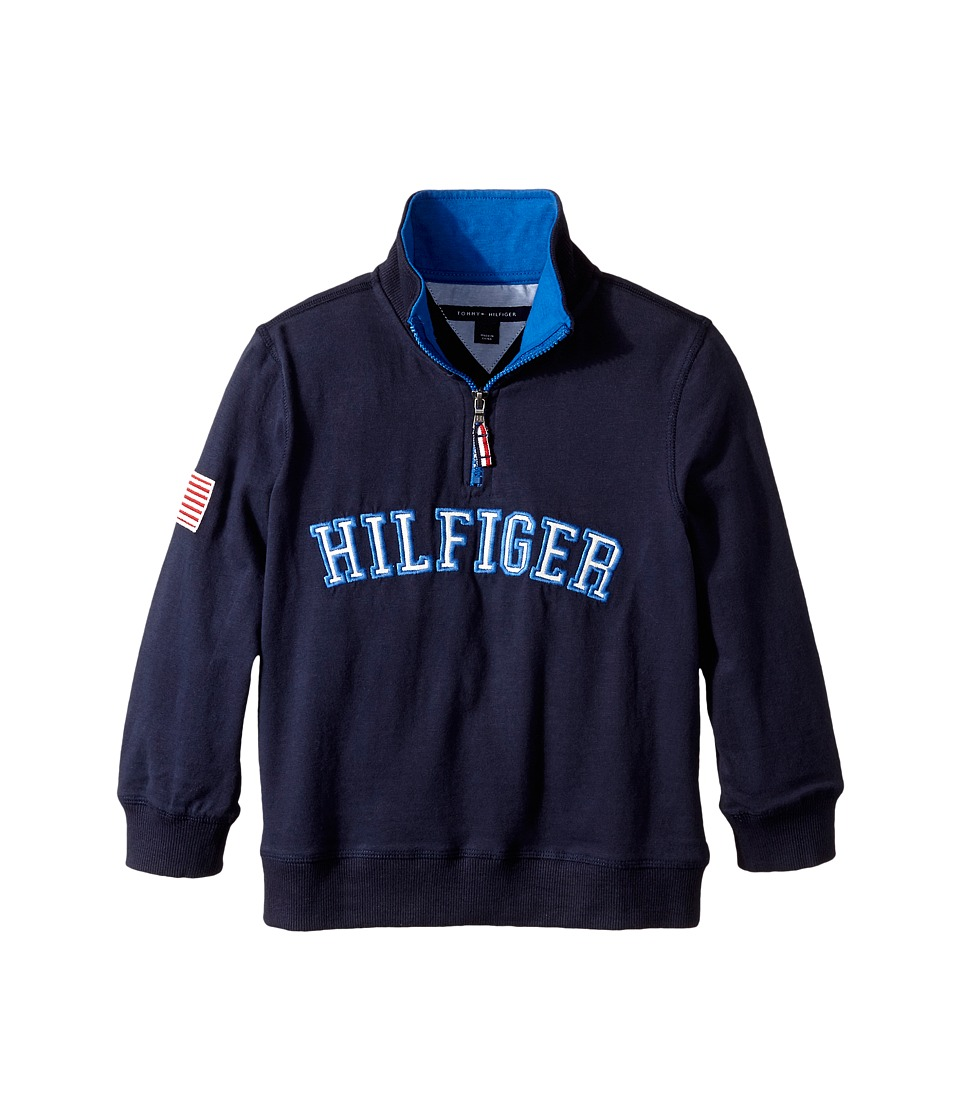 Tommy Hilfiger Kids - Half Zip Pullover Sweater (Toddler/Little Kids) (Swim Navy) Boy's Sweatshirt