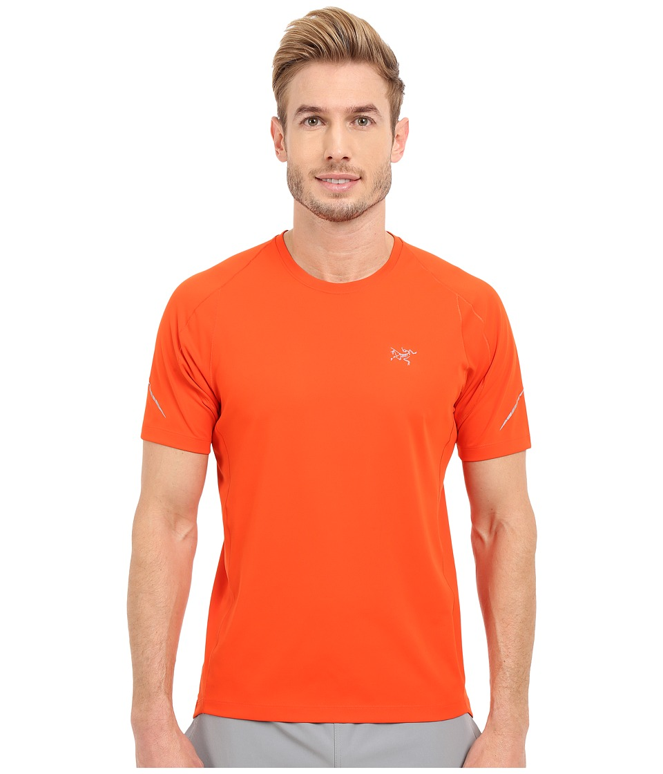 Arc'teryx - Accelerator Short Sleeve (Blood Orange) Men's Clothing