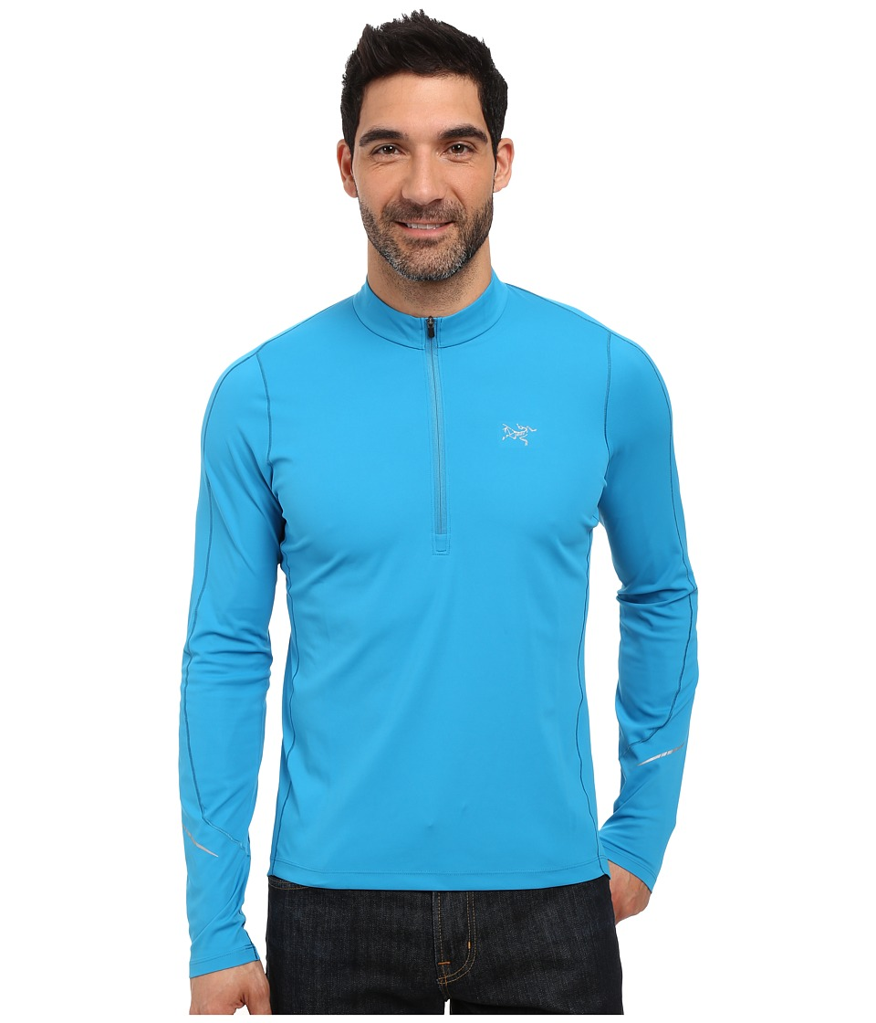 Arc'teryx - Accelerator Long Sleeve Zip Neck (Adriatic Blue) Men's Clothing