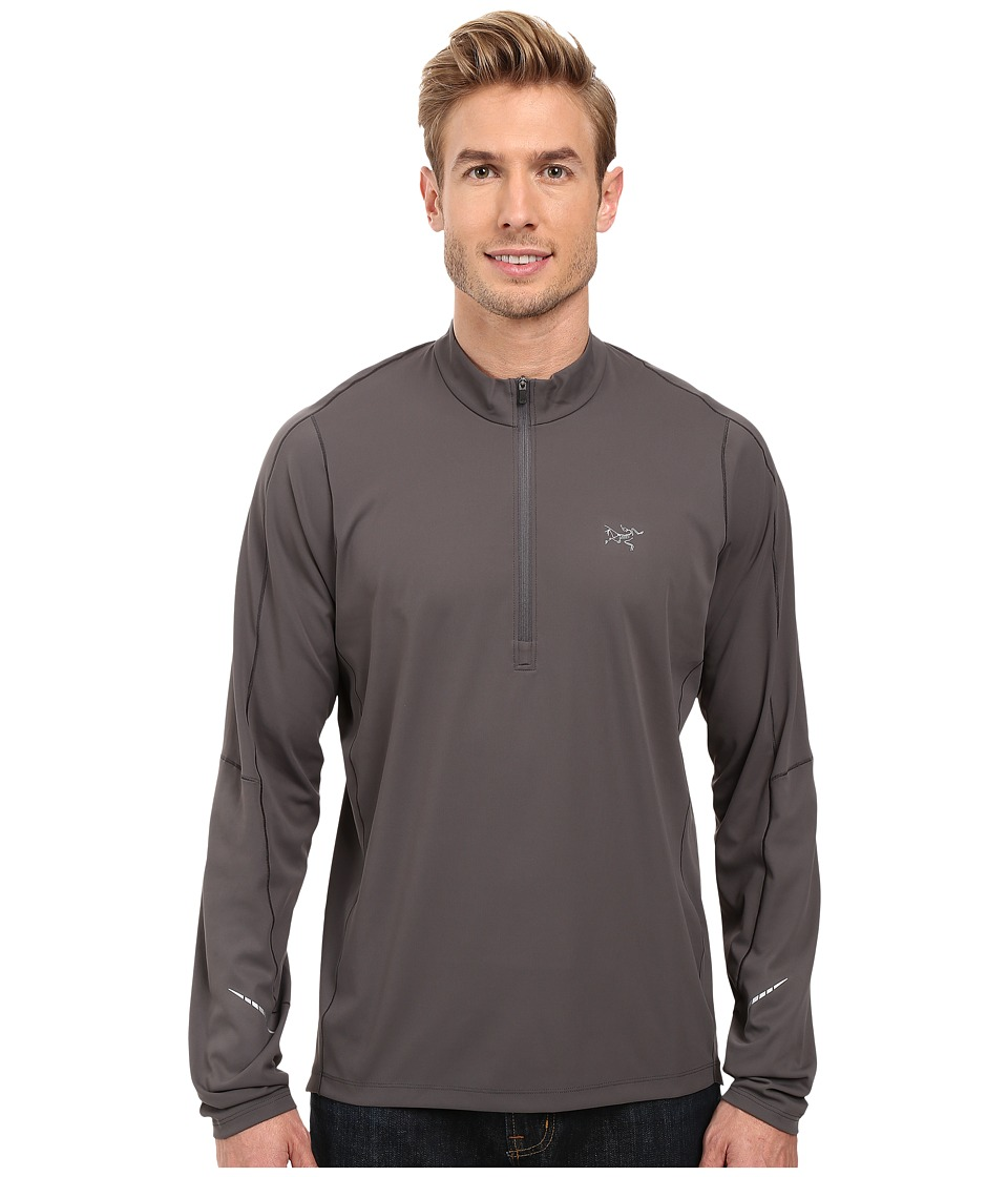 Arc'teryx - Accelerator Long Sleeve Zip Neck (Iron Anvil) Men's Clothing
