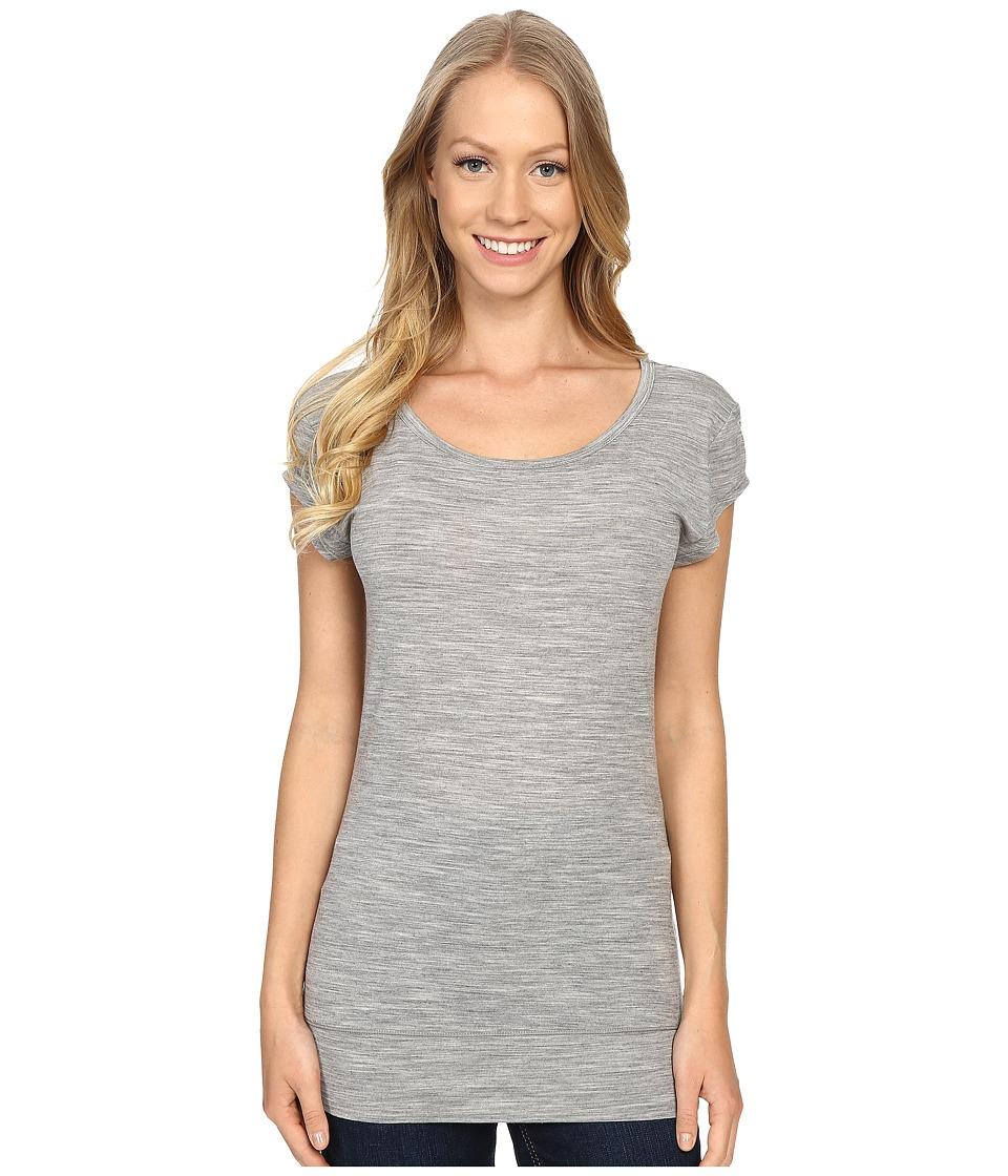 Icebreaker - Sublime Short Sleeve Tee (Metro Heather) Women's Clothing