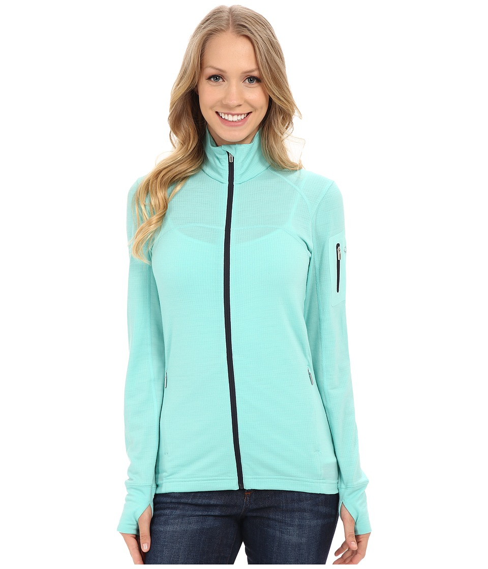 Icebreaker - Terra Long Sleeve Zip (Tasman/Tasman/Panther) Women's Clothing