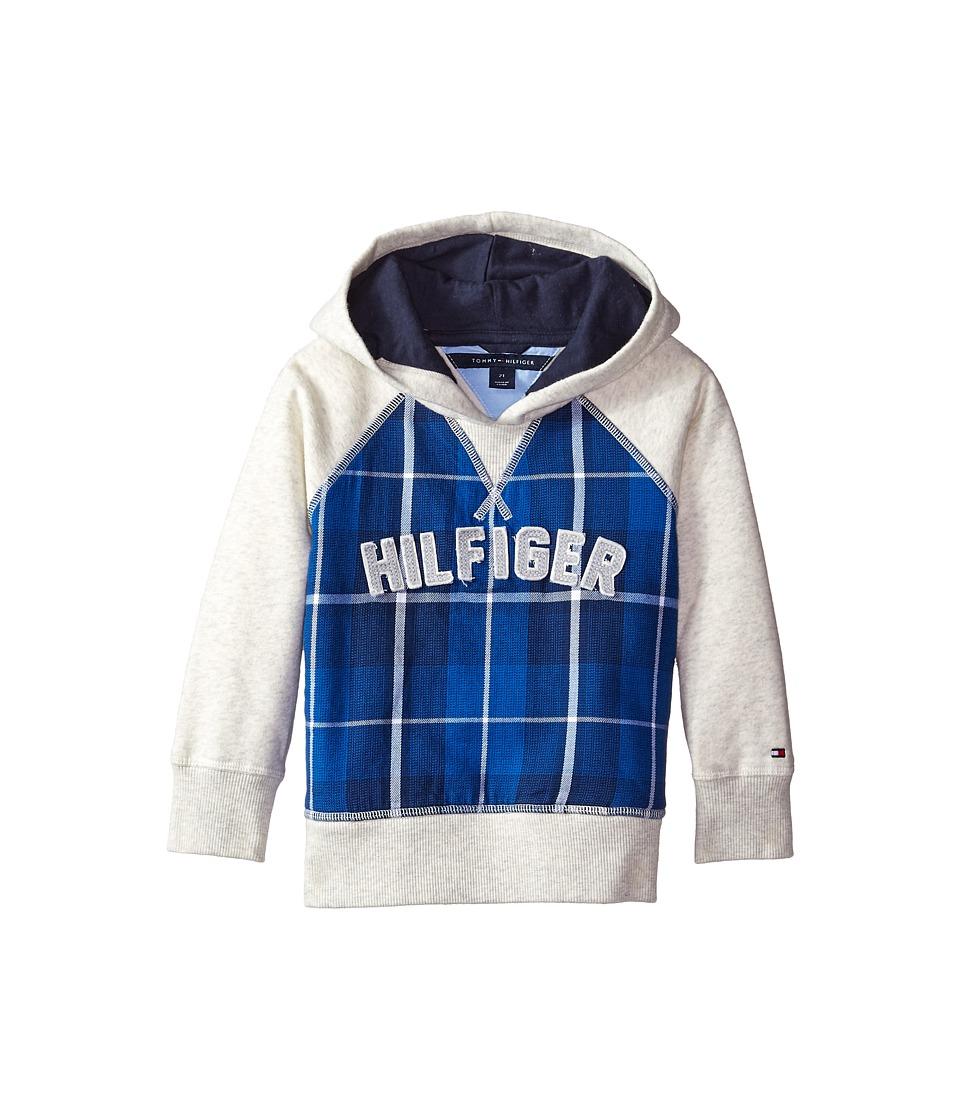 Tommy Hilfiger Kids - Flannel Fleece Pullover Hoodie (Toddler/Little Kids) (Oat Heather) Boy