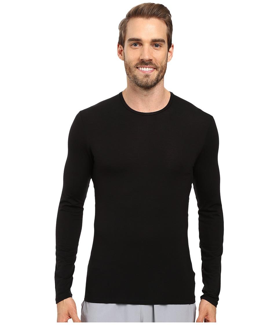 Icebreaker - Anatomica Long Sleeve Crewe (Black/Monsoon) Men's T Shirt