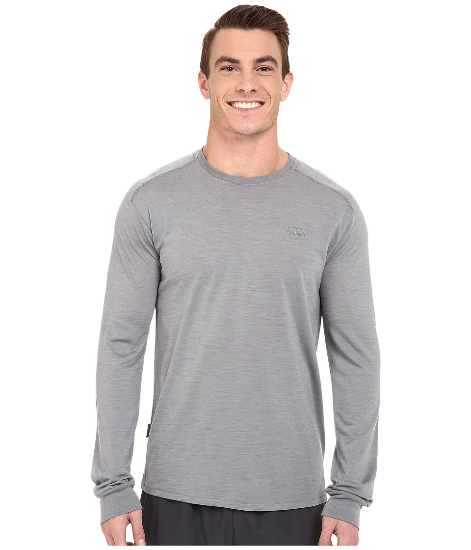 Icebreaker Sphere L/S Crewe (Fossil Heather/Fossil Heather) Men