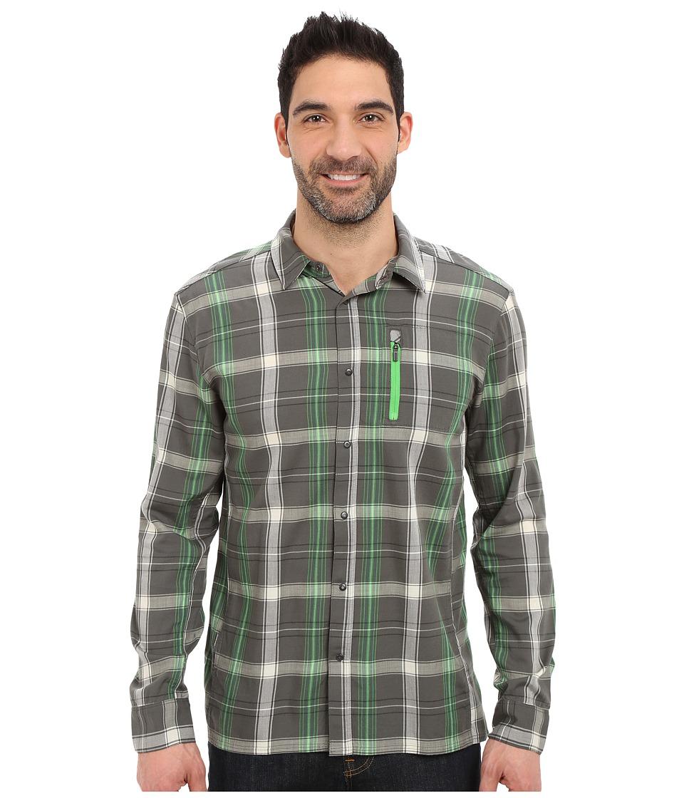 Icebreaker - Compass II Long Sleeve Shirt Plaid (Metal/Balsam) Men's Clothing