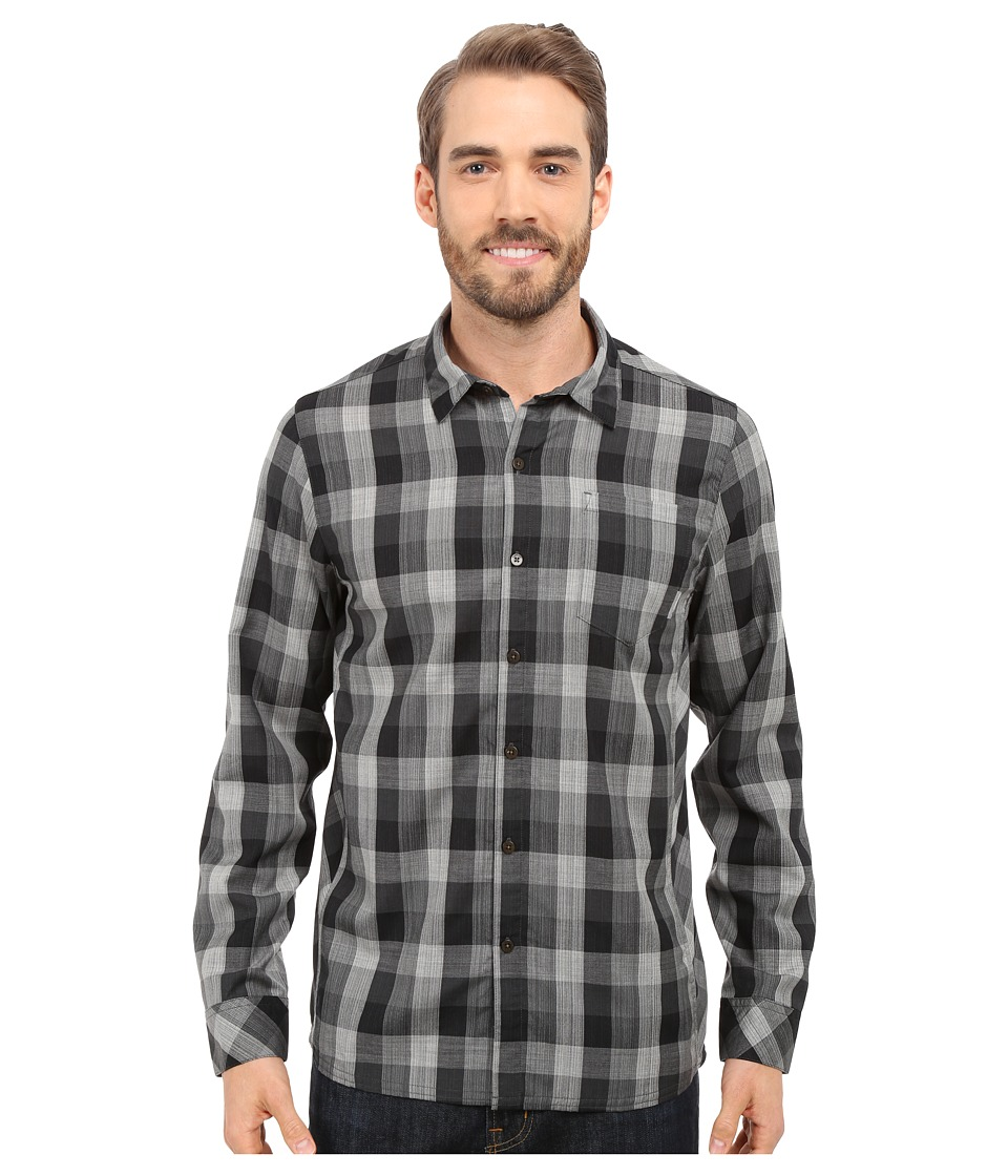 Icebreaker - Departure II Long Sleeve Shirt Plaid (Jet Heather/Monsoon/Snow) Men's Long Sleeve Button Up