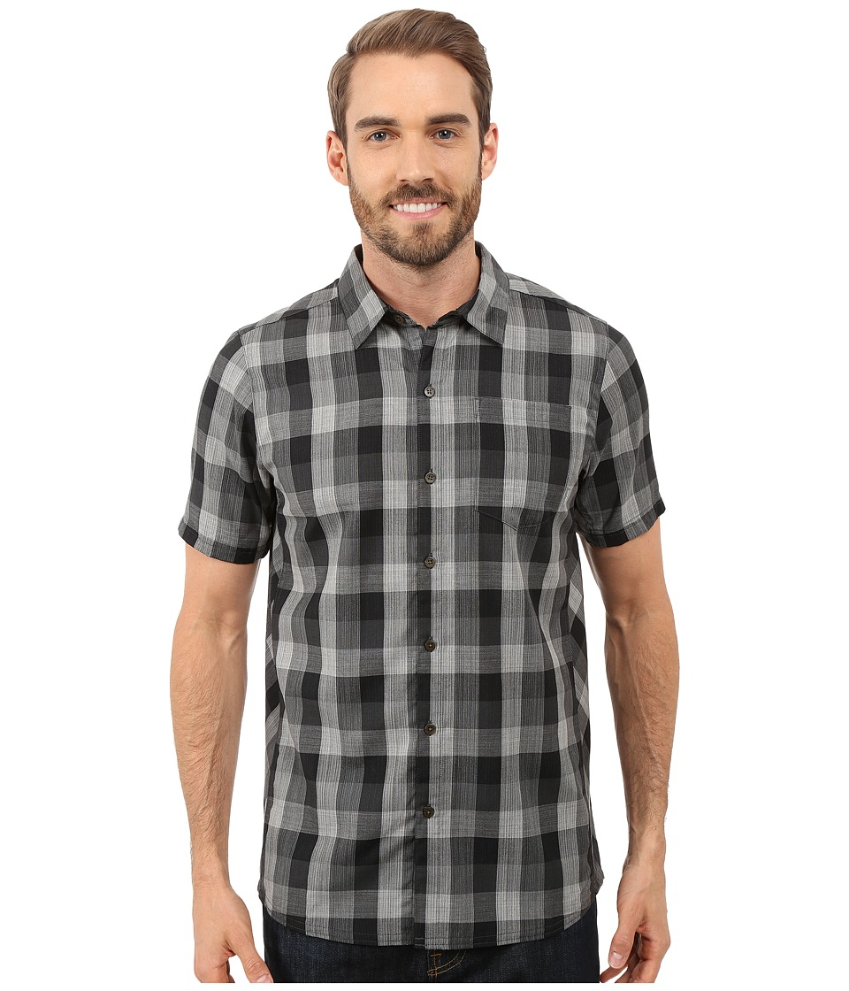 Icebreaker - Departure II Short Sleeve Shirt Plaid (Jet Heather/Monsoon/Snow) Men's Clothing