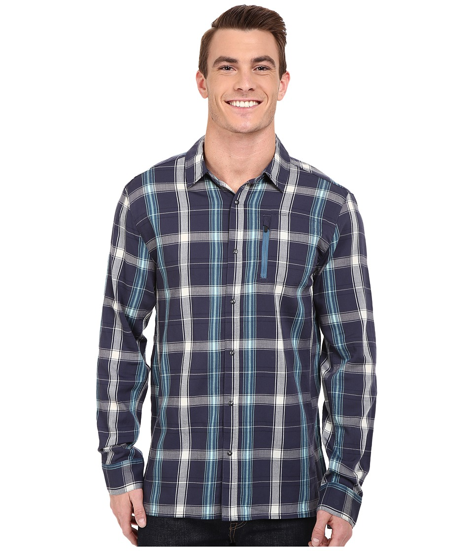 Icebreaker - Compass II Long Sleeve Shirt Plaid (Fathom Heather/Shore) Men's Clothing