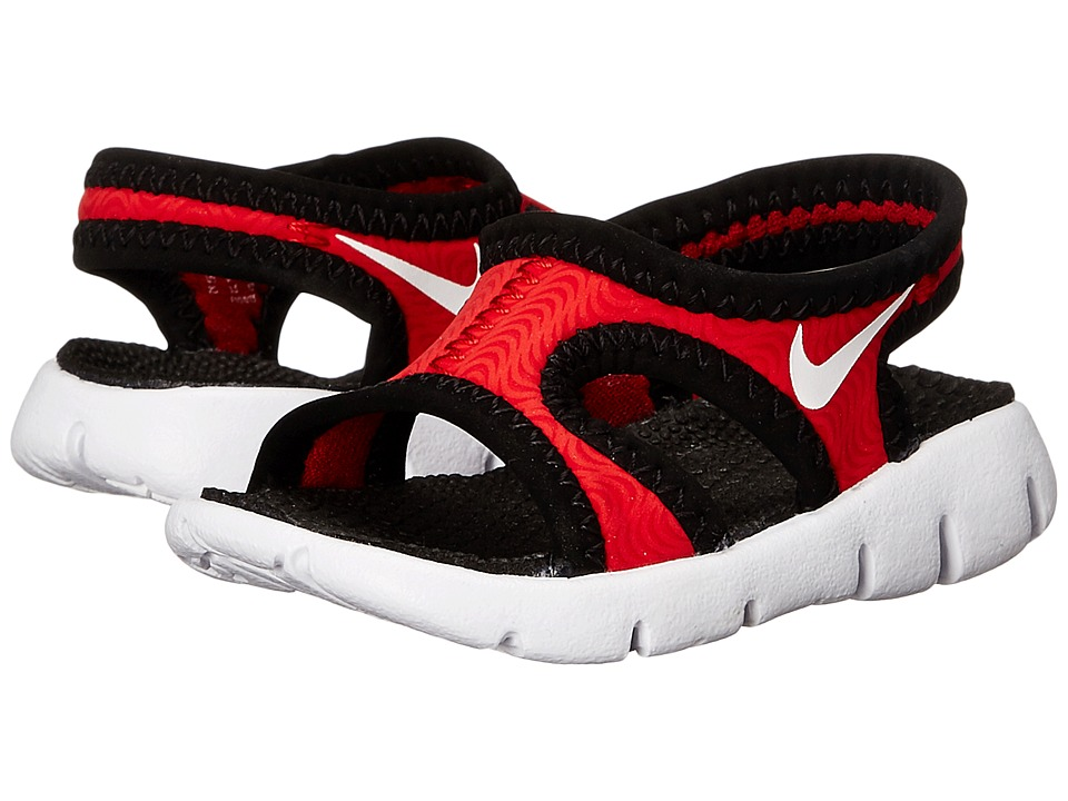 Nike Kids - Sunray 9 (Infant/Toddler) (University Red/Black/White) Boys Shoes