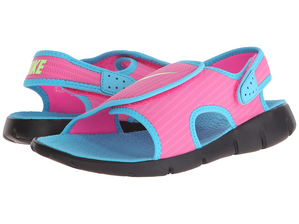 Nike Kids - Sunray Adjust 4 (Little Kid/Big Kid) (Pink Blast/Gamma Blue/Black/Ghost Green) Girls Shoes