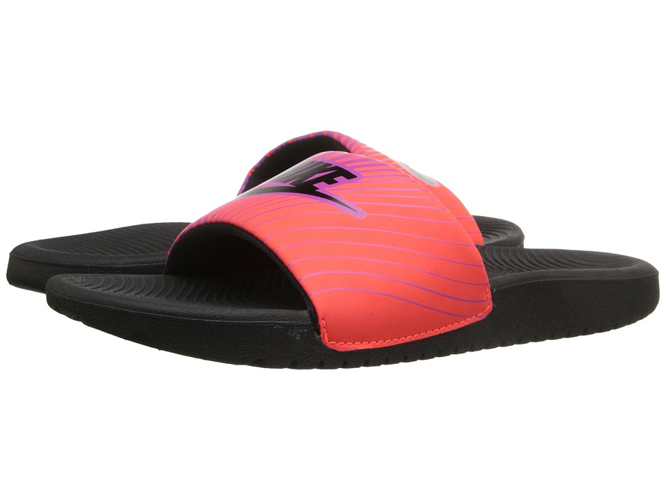Nike Kids - Slide Print (Little Kid/Big Kid) (Total Crimson/Hyper Violet/Black) Girls Shoes