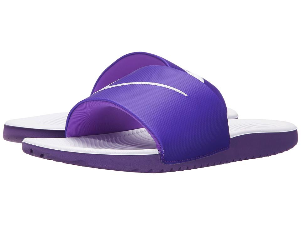 Nike Kids - Kawa Slide (Little Kid/Big Kid) (Hyper Grape/White) Girls Shoes
