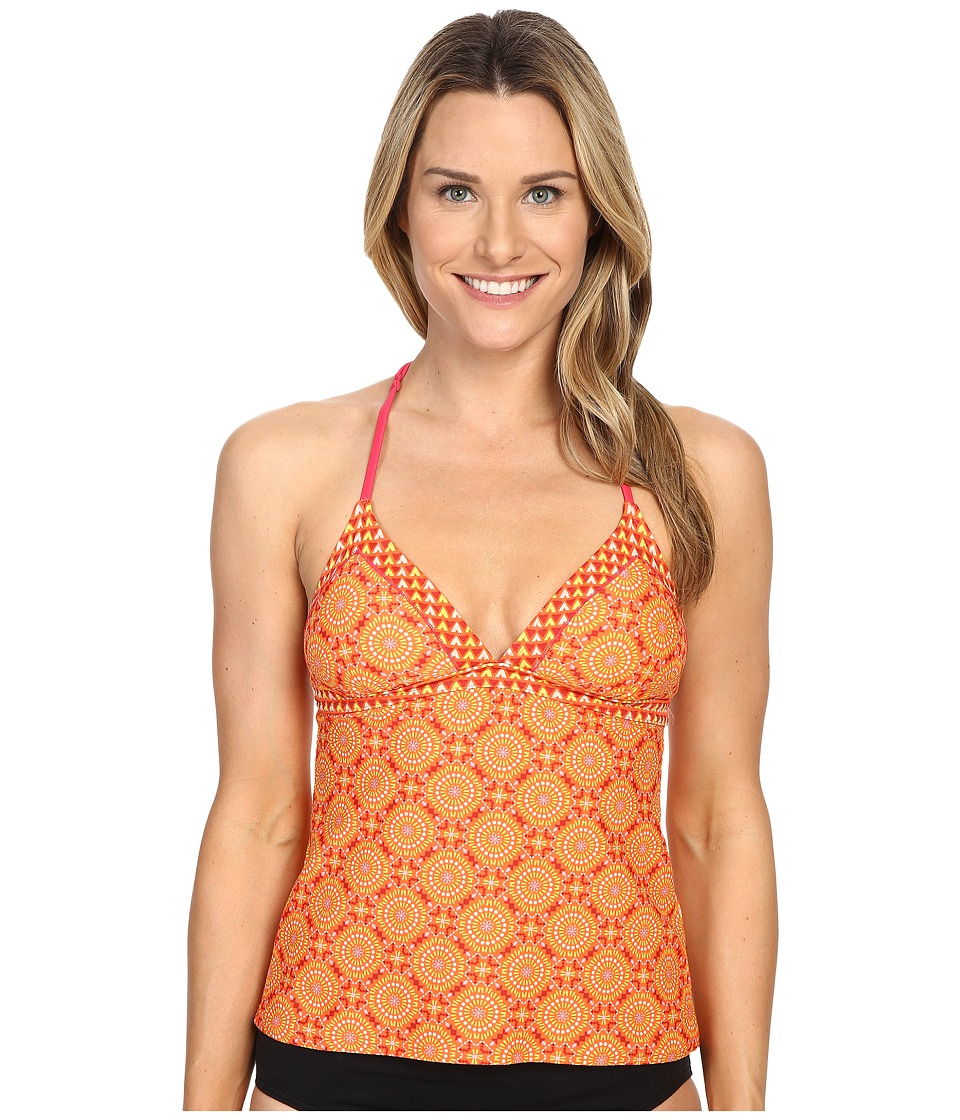 Prana - Aleka Tankini (Neon Orange Sundial) Women's Swimwear