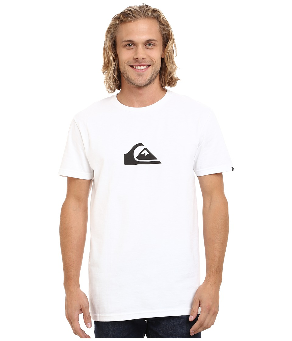 Quiksilver - Everyday Logo Tee (White/Black) Men's T Shirt