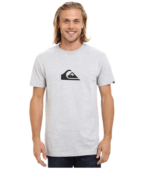 Quiksilver - Everyday Logo Tee (Athletic Heather/Black) Men