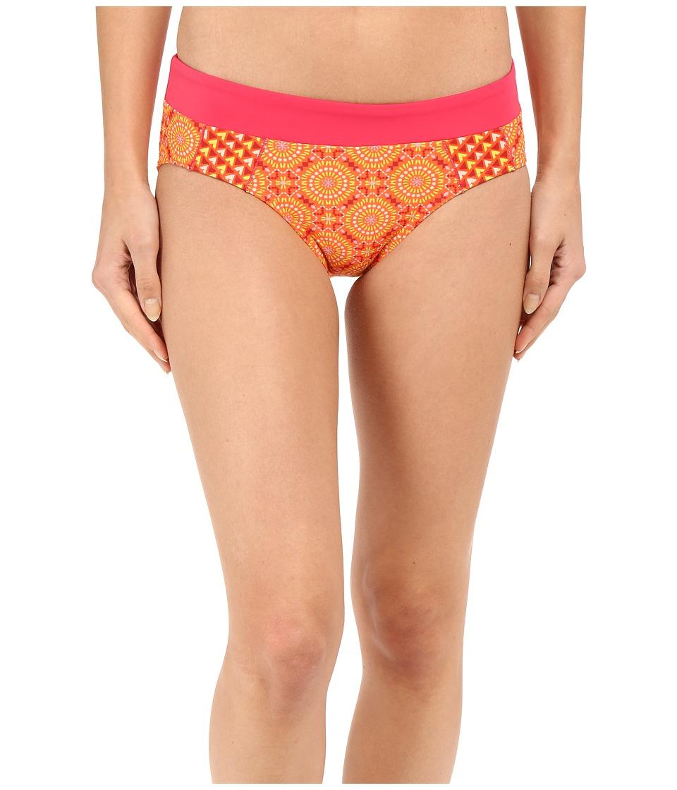 Prana - Zuri Bottom (Neon Orange Sundial) Women's Swimwear