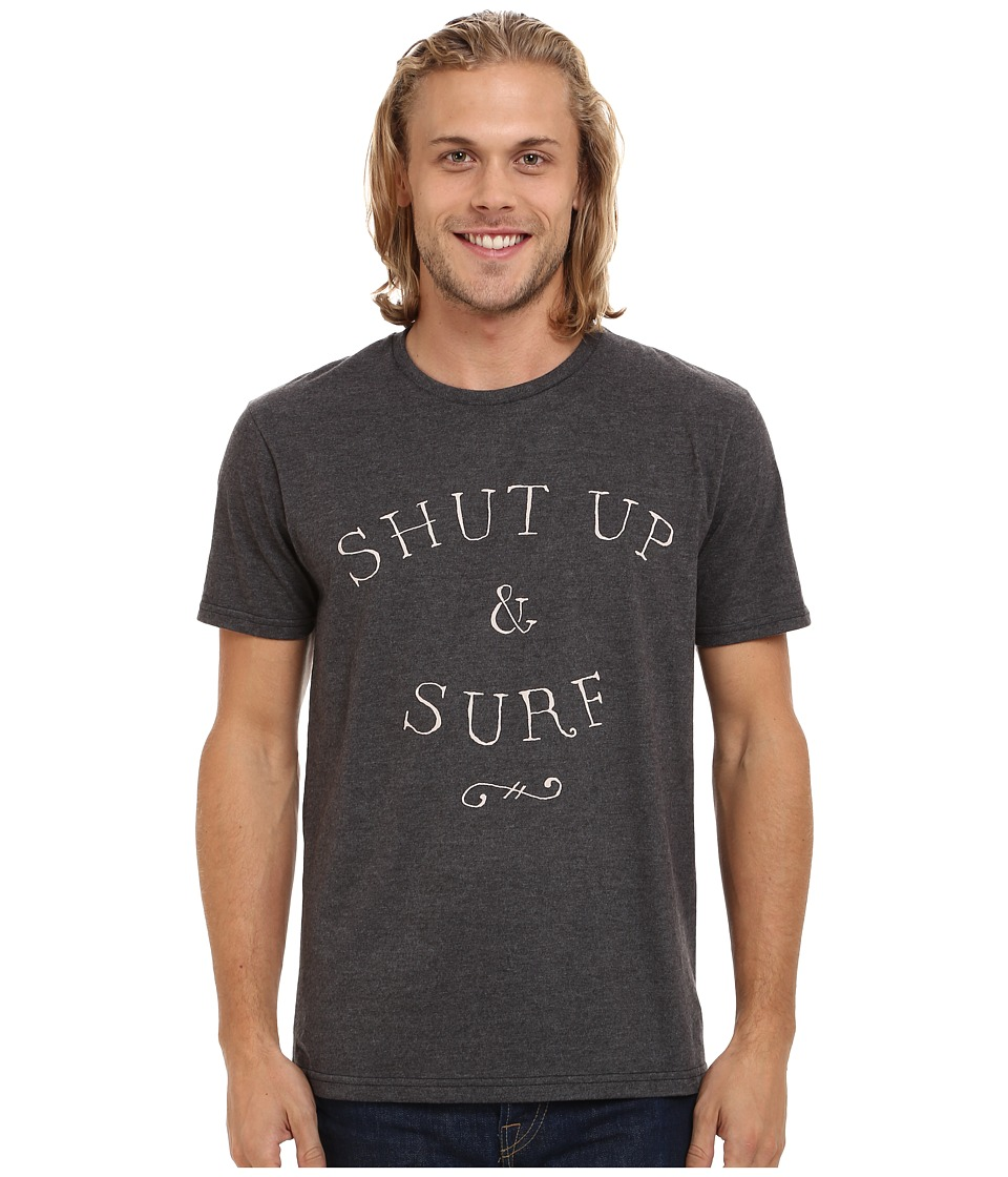 Quiksilver - Just Surf Mod Screen Tee (Charcoal Heather) Men's T Shirt