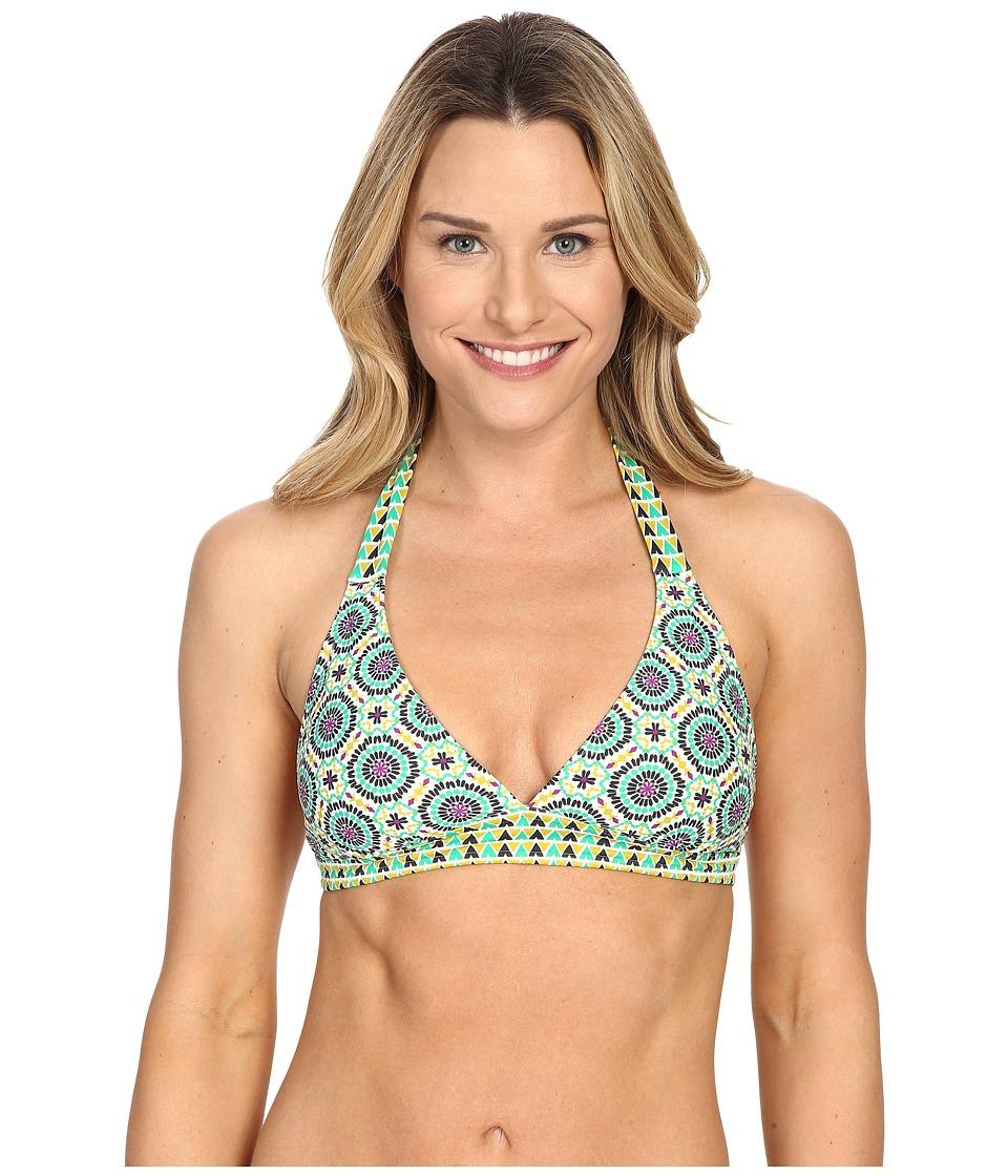 Prana - Lahari Halter Top (Cool Green Sundial) Women's Swimwear