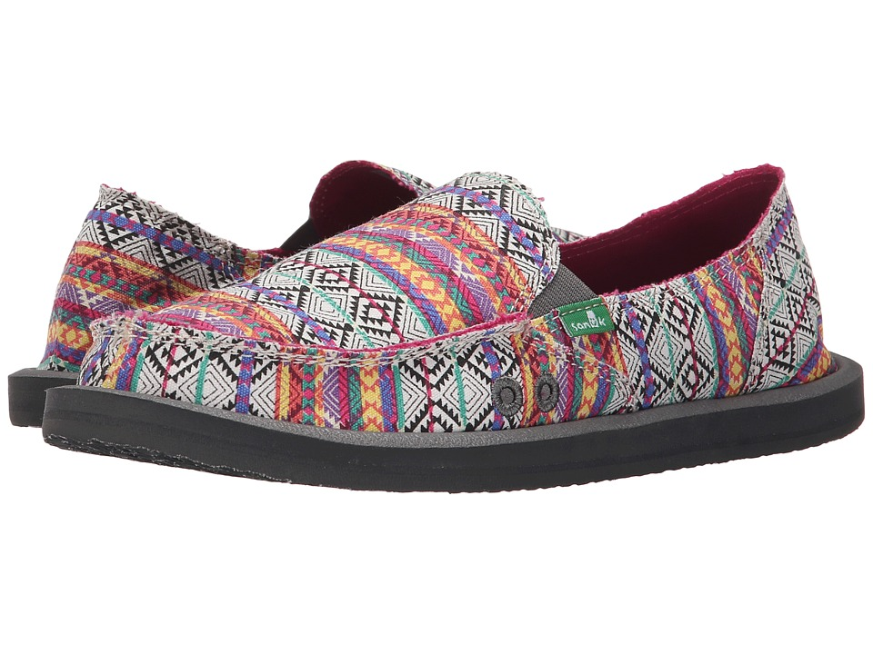 Sanuk Donna Tribal (Magenta/Multi Tribal Stripe) Women
