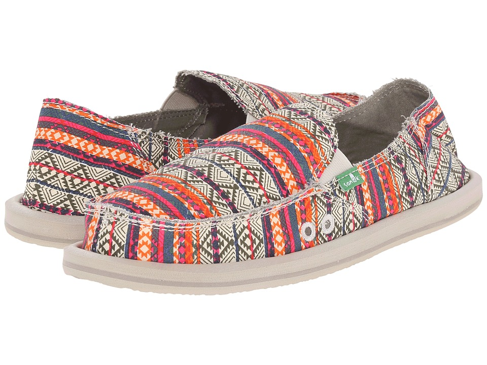 Sanuk Donna Tribal (Olive/Multi Tribal Stripe) Women