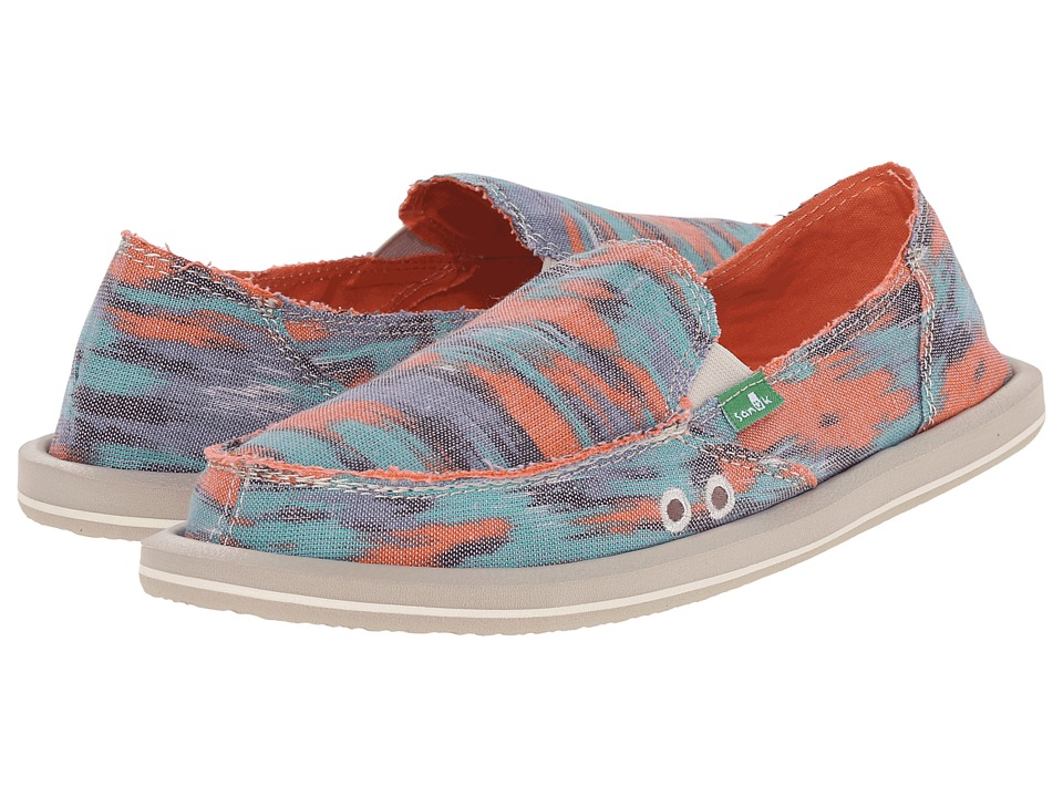 Sanuk - Donna (Watercolor Poncho Bright) Women's Slip on Shoes