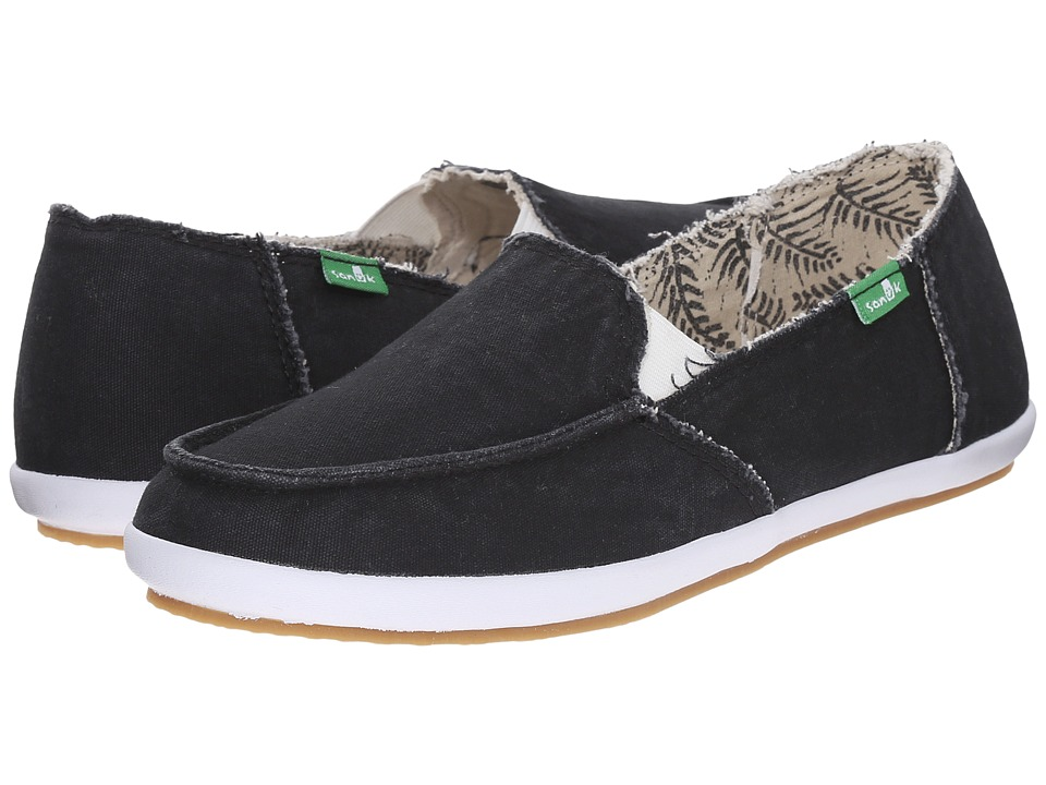 Sanuk - Overboard (Black) Women's Slip on Shoes