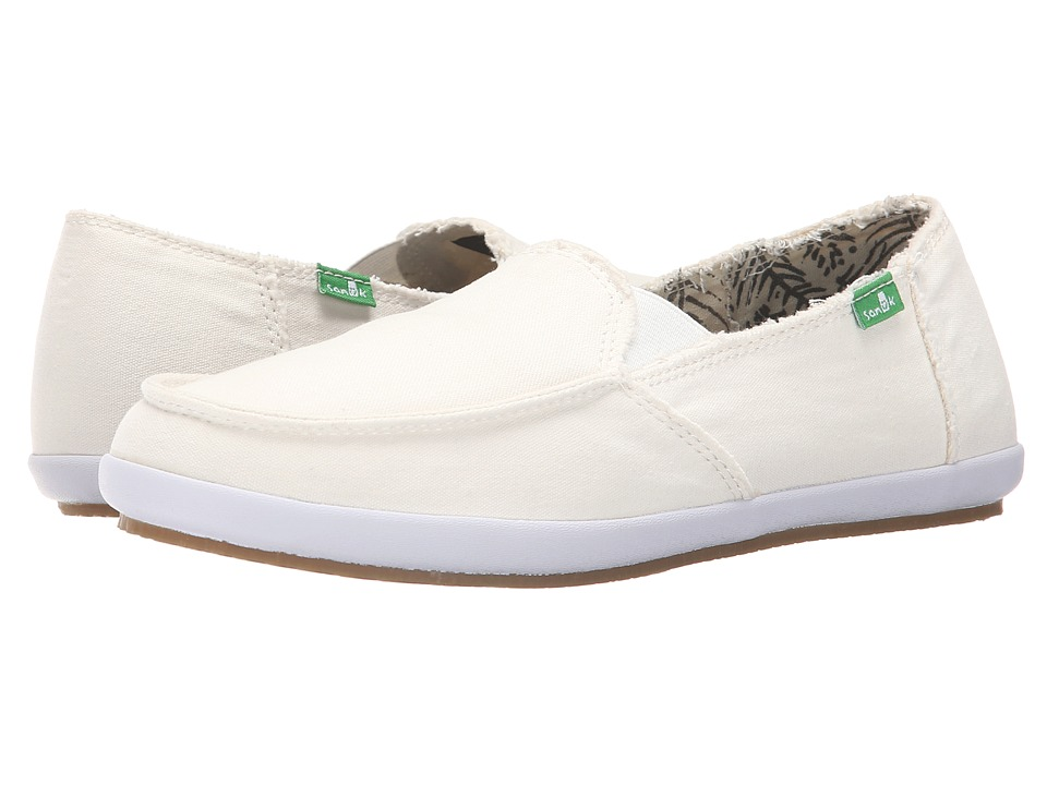 Sanuk - Overboard (Off White) Women's Slip on Shoes