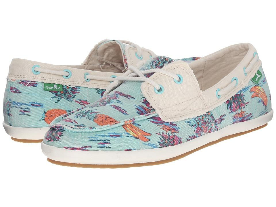 Sanuk - Sailaway 2 Vacay (Turquoise Pineapple) Women's Slip on Shoes
