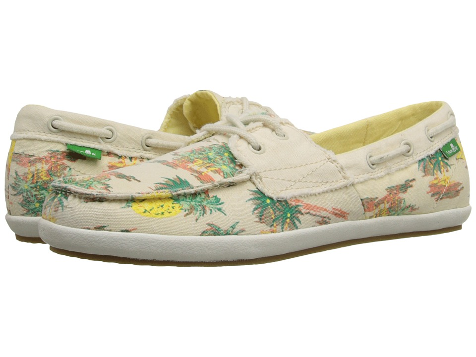 Sanuk - Sailaway 2 Vacay (Natural Pineapple) Women's Slip on Shoes