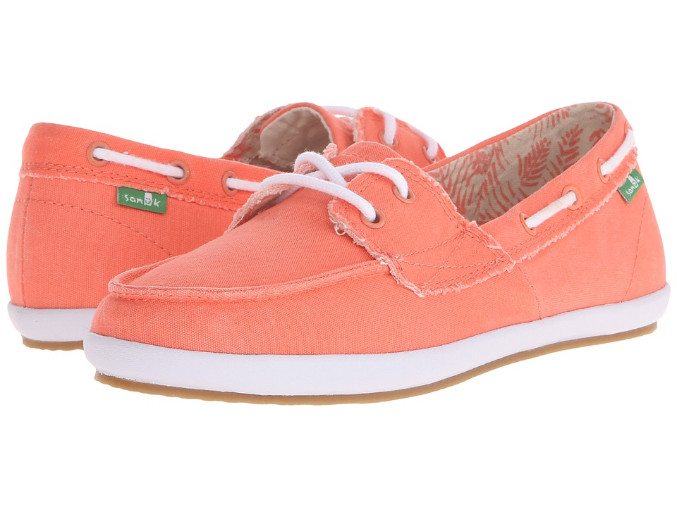 Sanuk Sailaway 2 Fray (Hot Coral) Women
