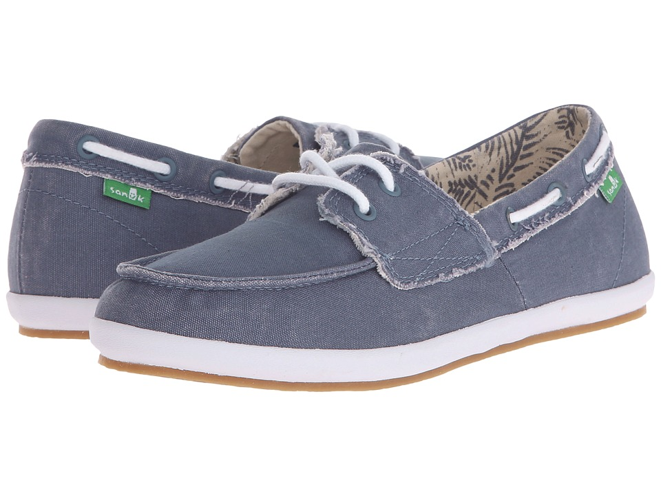Sanuk - Sailaway 2 Fray (Slate Blue) Women's Slip on Shoes
