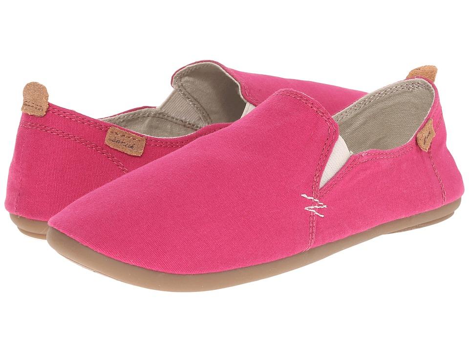 Sanuk - Isabel (Magenta) Women's Slip on Shoes